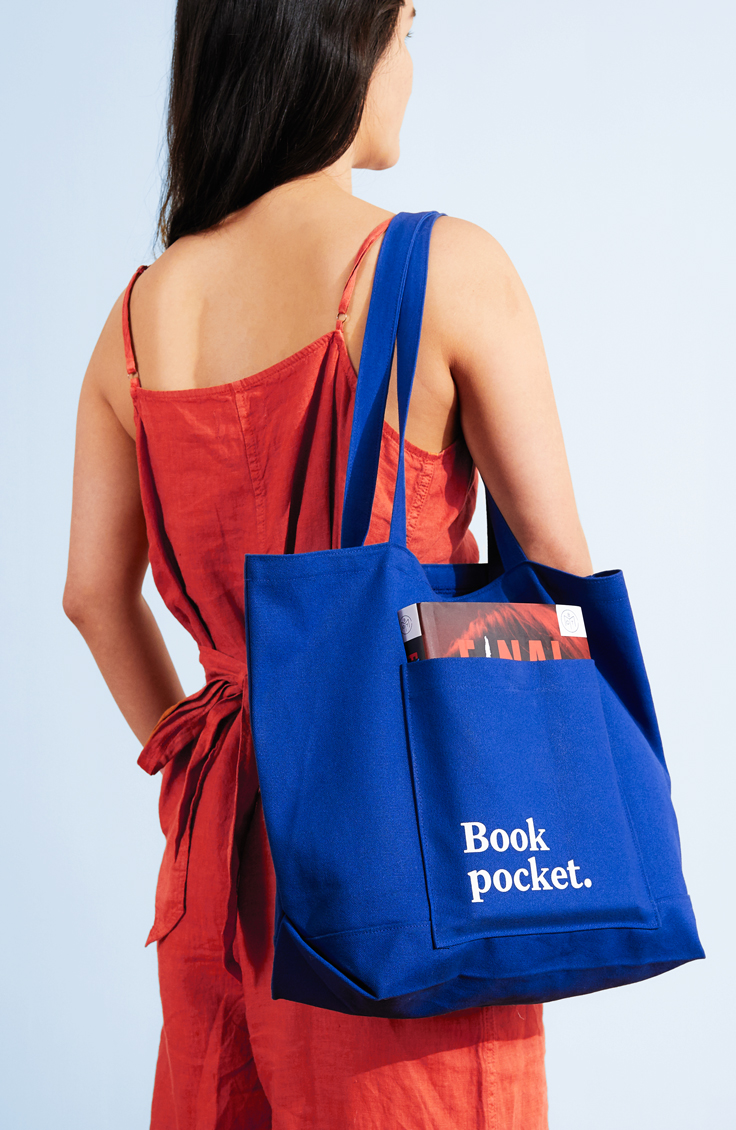 Book pocket tote by Book of the Month