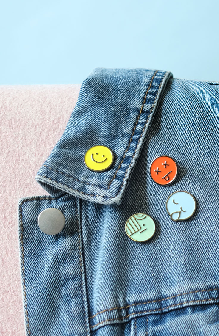 Bookmoji pins by Book of the Month