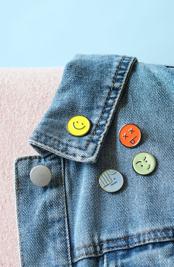 Bookmoji pins by